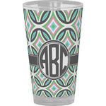 Geometric Circles Drinking / Pint Glass (Personalized)