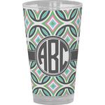 Geometric Circles Drinking / Pint Glass (Personalized)