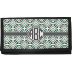 Geometric Circles Canvas Checkbook Cover (Personalized)