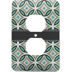 Geometric Circles Electric Outlet Plate (Personalized)