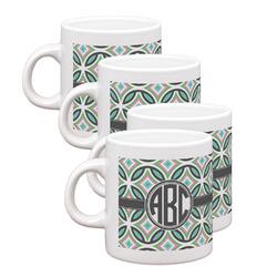 Geometric Circles Espresso Mugs - Set of 4 (Personalized)