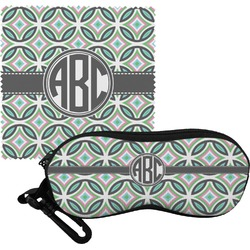 Geometric Circles Eyeglass Case & Cloth (Personalized)