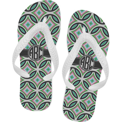 Geometric Circles Flip Flops - Large (Personalized)