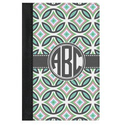 Geometric Circles Genuine Leather Passport Cover (Personalized)