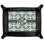 Geometric Circles Genuine Leather Valet Tray (Personalized)