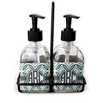 Geometric Circles Soap & Lotion Dispenser Set (Glass) (Personalized)