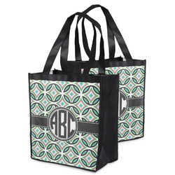 Geometric Circles Grocery Bag (Personalized)