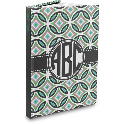 Geometric Circles Hardbound Journal (Personalized)