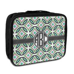 Geometric Circles Insulated Lunch Bag (Personalized)
