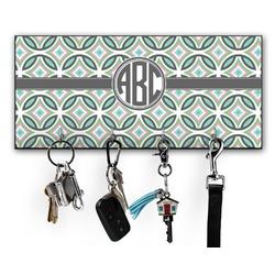 Geometric Circles Key Hanger w/ 4 Hooks (Personalized)