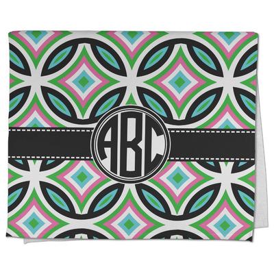 Geometric Circles Kitchen Towel - Full Print (Personalized)