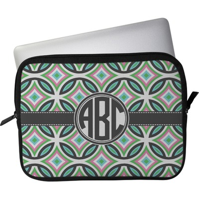 "Geometric Circles Laptop Sleeve / Case - 15"" (Personalized)"