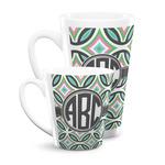 Geometric Circles Latte Mug (Personalized)