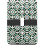 Geometric Circles Light Switch Cover (Single Toggle) (Personalized)