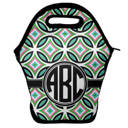 Geometric Circles Lunch Bag w/ Monogram
