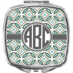 Geometric Circles Compact Makeup Mirror (Personalized)