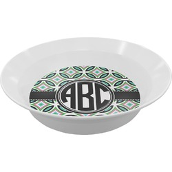 Geometric Circles Melamine Bowl (Personalized)