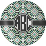 Geometric Circles Melamine Plate (Personalized)