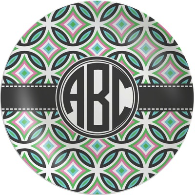 Geometric Circles Melamine Plate (Personalized)