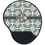 Geometric Circles Mouse Pad with Wrist Support