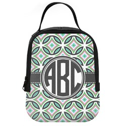 Geometric Circles Neoprene Lunch Tote (Personalized)