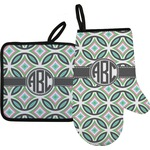 Geometric Circles Oven Mitt & Pot Holder (Personalized)