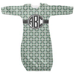 Geometric Circles Newborn Gown (Personalized)