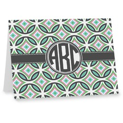 Geometric Circles Notecards (Personalized)