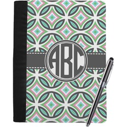 Geometric Circles Notebook Padfolio (Personalized)