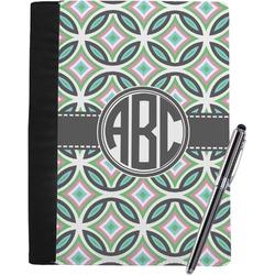 Geometric Circles Notebook Padfolio (Personalized)