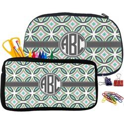 Geometric Circles Pencil / School Supplies Bag (Personalized)