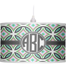 Geometric Circles Drum Pendant Lamp (Personalized)