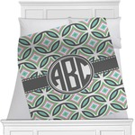 Geometric Circles Minky Blanket (Personalized)