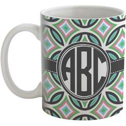 Geometric Circles Coffee Mug (Personalized)