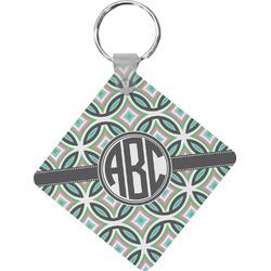 Geometric Circles Diamond Key Chain (Personalized)