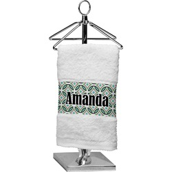 Geometric Circles Finger Tip Towel (Personalized)