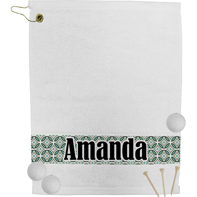 Geometric Circles Golf Towel (Personalized)