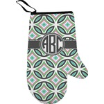 Geometric Circles Right Oven Mitt (Personalized)