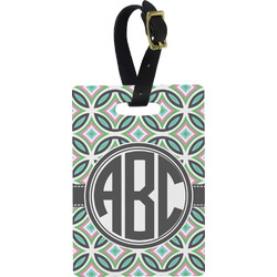 Geometric Circles Rectangular Luggage Tag (Personalized)