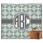 Geometric Circles Outdoor Picnic Blanket (Personalized)