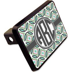 """Geometric Circles Rectangular Trailer Hitch Cover - 2"""" (Personalized)"""