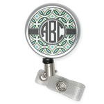Geometric Circles Retractable Badge Reel (Personalized)