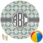 Geometric Circles Round Beach Towel (Personalized)