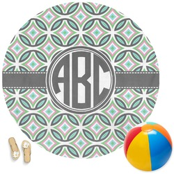 Geometric Circles Round Beach Towel (Personalized)