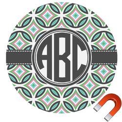 Geometric Circles Car Magnet (Personalized)