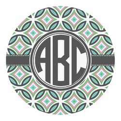 Geometric Circles Round Decal - Custom Size (Personalized)
