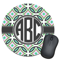 Geometric Circles Round Mouse Pad (Personalized)