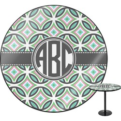Geometric Circles Round Table (Personalized)