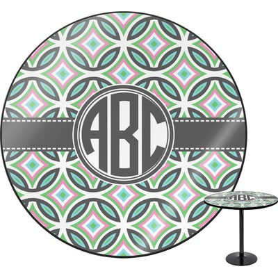 """Geometric Circles Round Table - 30"""" (Personalized)"""