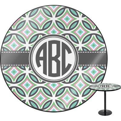 Geometric Circles Round Table - 30
